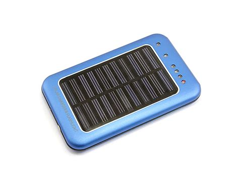 Solar Battery Charger Flashlight Spare Power Supply Blue Solar Light Battery Charger