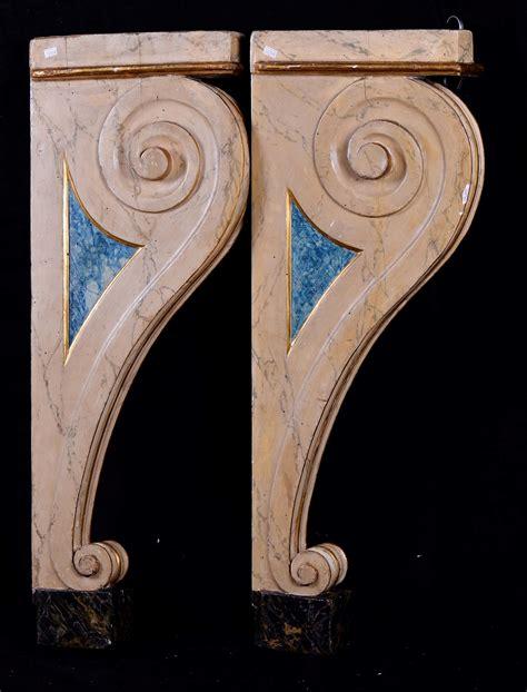 mensole laccate coppia di reggi mensole laccate antiquariato e dipinti