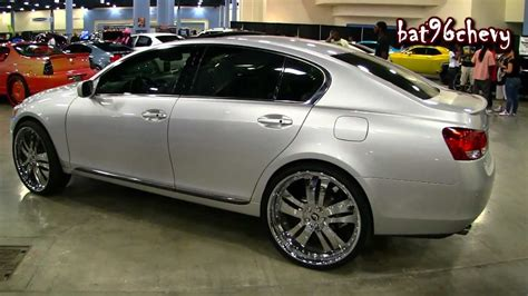 lexus gs300 rims 2006 lexus gs 300 on 24 quot forgiatos chrome wheels 1080p
