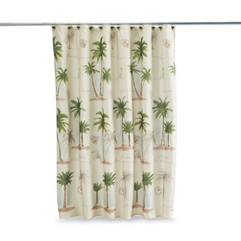 shower curtains with palm trees key largo shower curtain ivory bathroom accessories palm