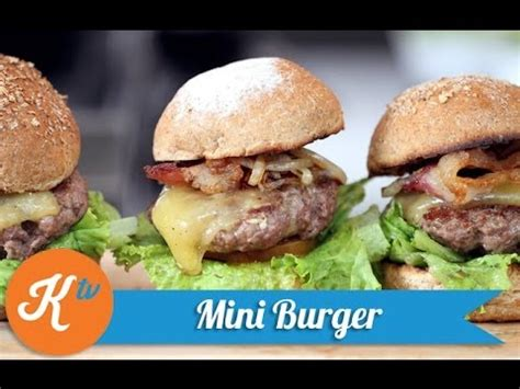Daging Burger cara membuat mini burger daging empuk
