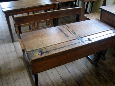 school desk complete with inkwell i was an ink monitor my