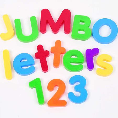 Letter Jumbo Top 1 jumbo magnetic letters numbers combo set learning resources 174