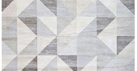 triangle pattern area rug silver gray and white modern geometric triangle pattern