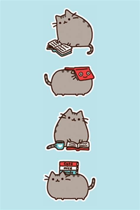 pusheen cat wallpaper iphone pusheen cat desktop wallpaper wallpapersafari