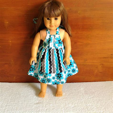 design doll full free apron dress for 18 inch american dolls by blissfulsewing