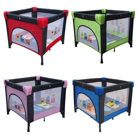 baby play bed foxhunter baby travel playpen infant square cot bed play