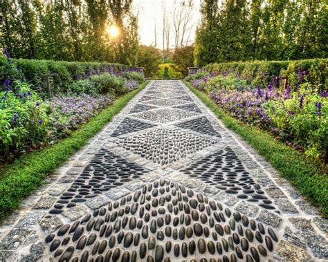 driveway path landscape traditional with natural stone