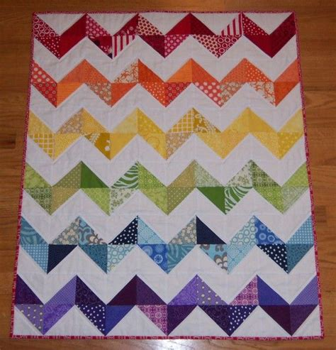 rainbow zig zag quilt pattern reserved for sarah free shipping rainbow zig zag baby quilt