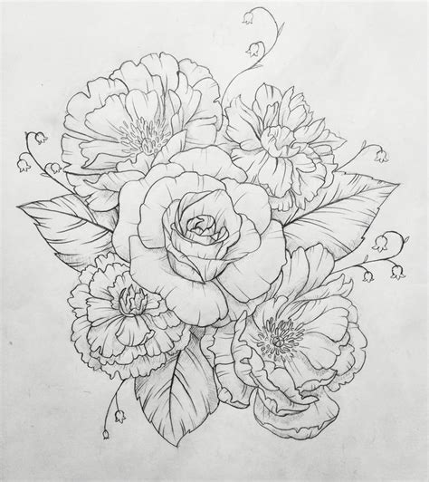 best carnation tattoo designs 59 on anchor tattoo with