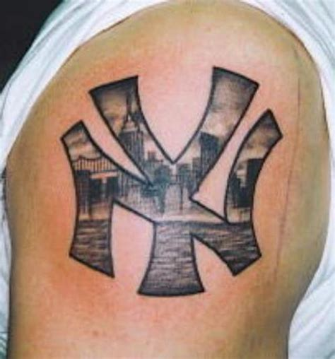 yankee tattoos collection of 25 rainbow ny yankees logo