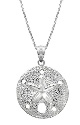 2 dollar fashion jewelry sterling silver sand dollar necklace pendant with 18 quot box