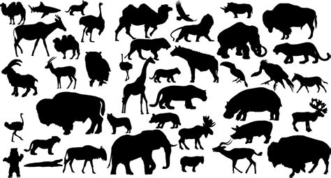Animal Silhouettes Templates animal silhouettes new calendar template site