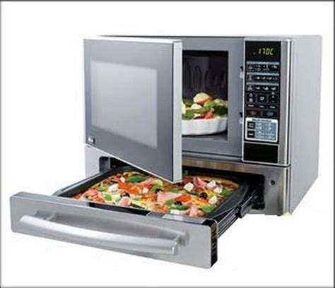 microwave oven with a pizza drawer geeky