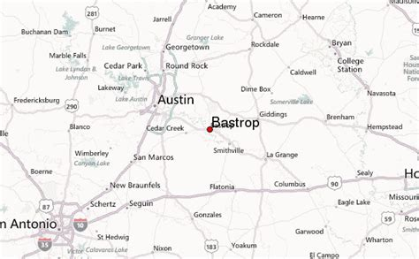 bastrop texas map bastrop texas location guide