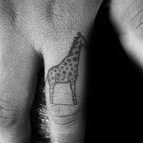 tattoo giraffe finger 90 giraffe tattoo designs for men long neck ink ideas
