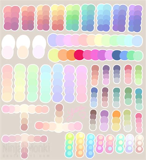 color or colour pastel colour palette by ninjahmonki on deviantart