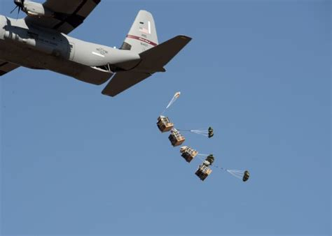 airborne testers conduct airdrop tests   container