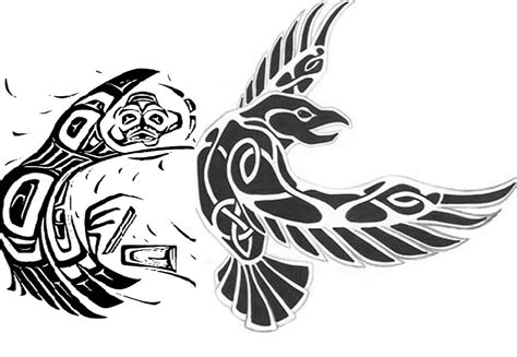 raven tribal tattoo odin s ravens tattoos designs pictures to pin on