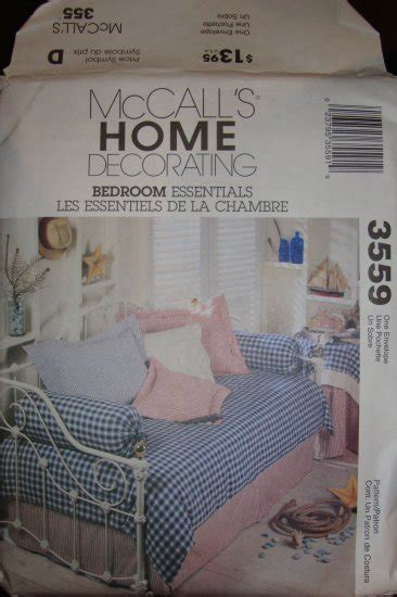 mccall s 7348 bedroom essentials home decor pattern ebay mccall home decorating bedroom essentials pattern 3559