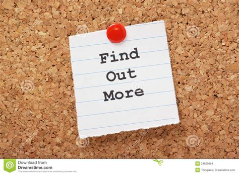 Find Out About Find Out More Stock Images Image 34659864