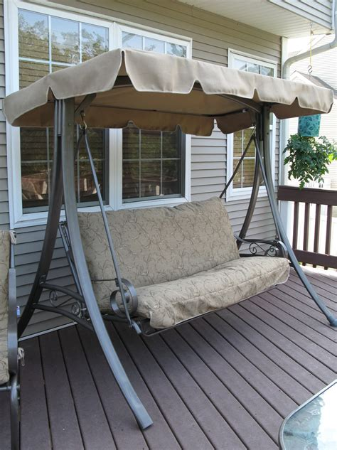 patio swing cushion  canopy replacement home design ideas
