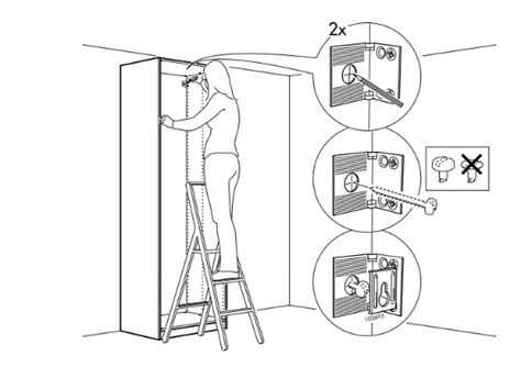 Secure Wardrobe To Wall securing your furniture to the wall flat pack