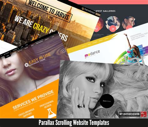 parallax scrolling website templates entheos