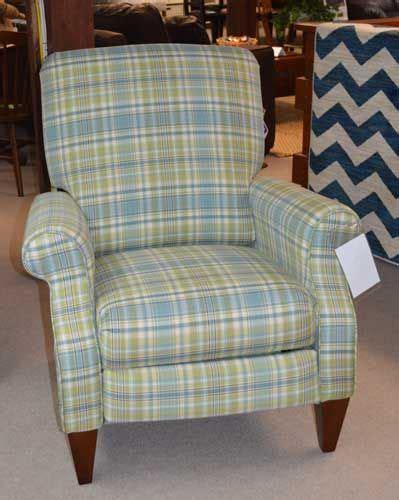 plaid recliner seafoam plaid 5 leg chair fabric home interior