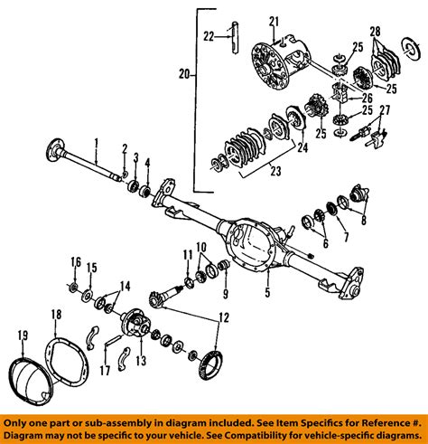 diagram of rear differential gm oem rear axle seals 26029137 ebay