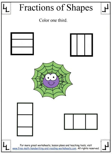 reading fractions worksheet fractions worksheet dividing shapes