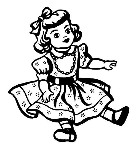 black doll and white doll black white clipart doll pencil and in color black