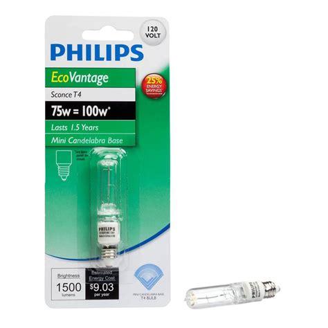 Lu Philips 100 Watt philips 100 watt halogen t4 sconce light bulb 428151 the