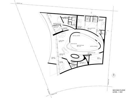 Floor Plans For Basement Bathroom california residence in san diego by zaha hadid architects
