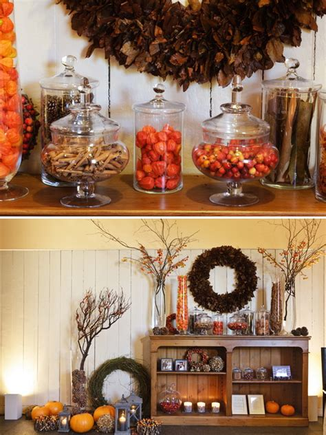 decorations for fall harvest harvest decoration ideas nanobuffet