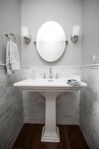 Powder Room Pedestal Sink Powder Room Panache