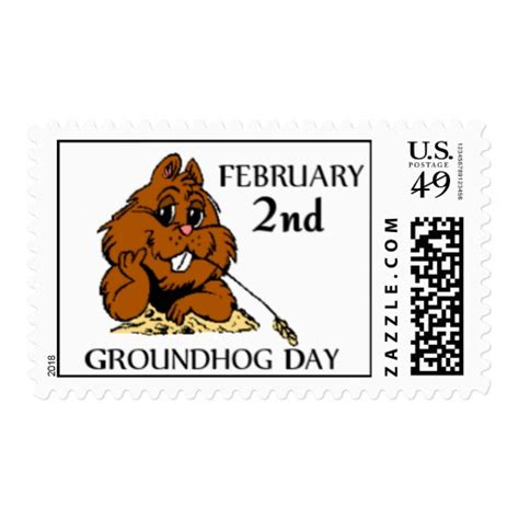 groundhog day gifts celebrate groundhog day postage zazzle