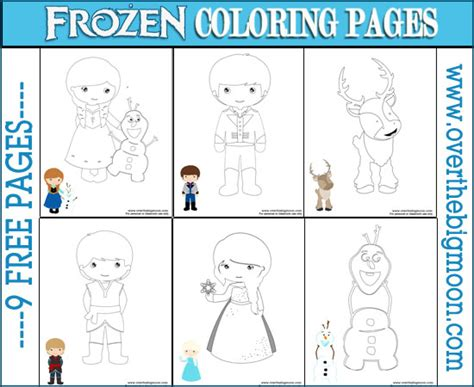 free frozen coloring pages and activities free frozen coloring pages from www overthebigmoon