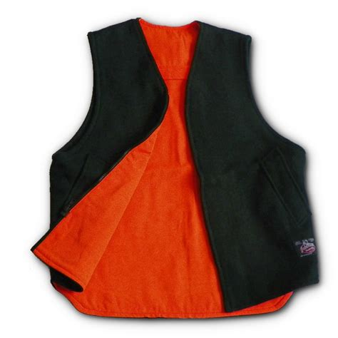 Reversible Blaze Orange Hunting Vest   Made In The USA