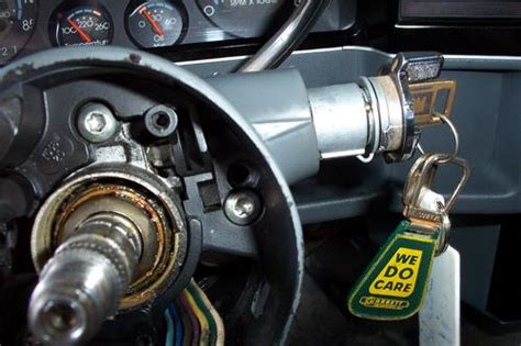 removing door lock cylinder 1989 chevrolet corvette how to remove the ignition key lock i have the steering wheel off but cannot determinr how to