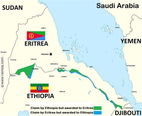 eritrea map eritrea foiled s no peace no war strategy ii hornofafrica de