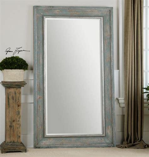 oversized floor mirror calvera oversized distressed blue