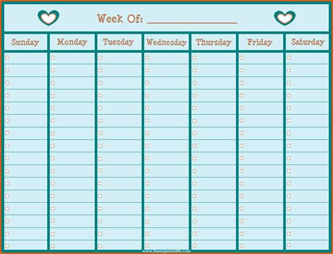 Free Weekly Calendar Template by Weekly To Do Calendar Calendar 2018 Printable