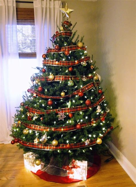 picture of real christmas trees decorated real trees