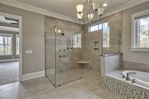 tile master bathroom ideas gray mosaic marble wall bath panels master bathroom shower