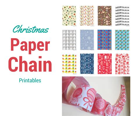 Printable Xmas Paper Chains | christmas paper chain be a fun mum