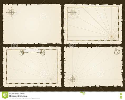 card frame template 2x2 vintage empty pirate invitation vector retro card