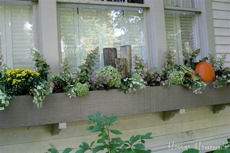 decorating window boxes for fall decorating fall window boxes hoosier