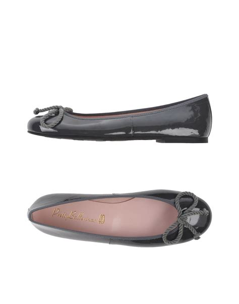 Top Five Pretty Flat Shoes At A Discount In The Schuh Summer Sale by Pretty Ballerinas Ballet Flats In Gray Lyst