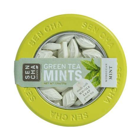 Sencha Green Tea Mints Original 9g Box moroccan mint green tea mints canister 6 pack sencha naturals
